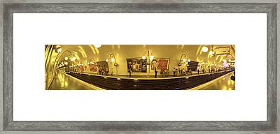 360 Degree View Of A Metro Station Framed Print