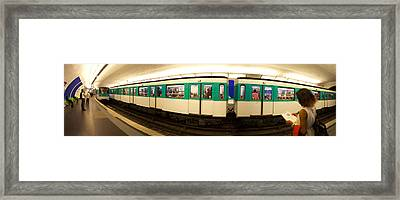 360 Degree View Of A Metro Train Framed Print