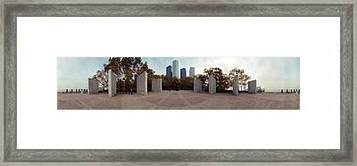 360 Degree View Of A War Memorial, East Framed Print by Panoramic Images