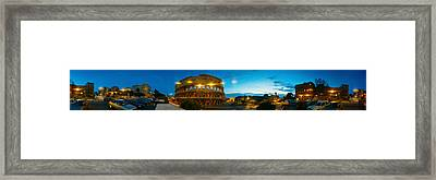 360 Degree View Of An Amphitheater Lit Framed Print by Panoramic Images