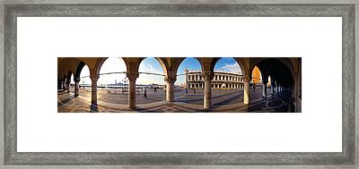 360 Degree View Of Buildings Viewed Framed Print