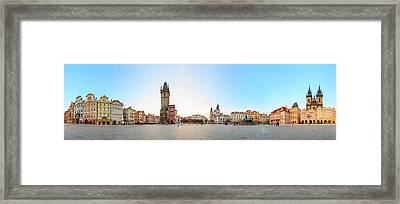 360 Degree View Of Old Town Square Framed Print