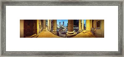 360 Degree View Of The Notre Dame De Framed Print by Panoramic Images