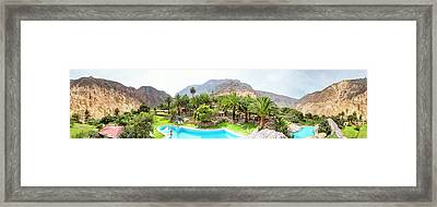 360 Degree View Of The Oasis Framed Print by Panoramic Images