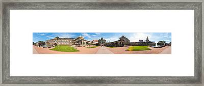 360 Degree View Of Zwinger Palace Framed Print by Panoramic Images