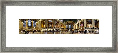 360 Panorama Of Grand Central Terminal Framed Print