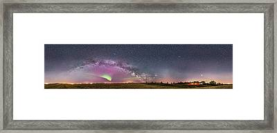 360� Panorama Of The Spring Sky Framed Print by Alan Dyer