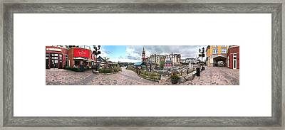 360 View Panorama, Mont-tremblant Framed Print by Henry Lin