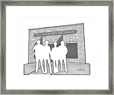 Framed Print featuring the drawing 3614 Jackson Highway by Calvin Durham