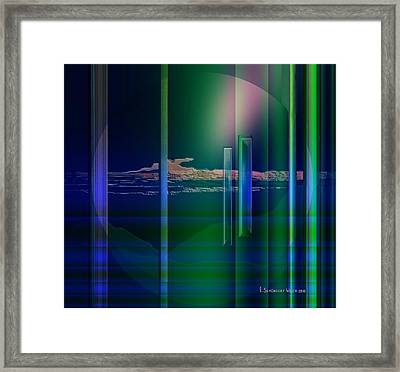 364 - Abstract Landscape 1 Framed Print by Irmgard Schoendorf Welch