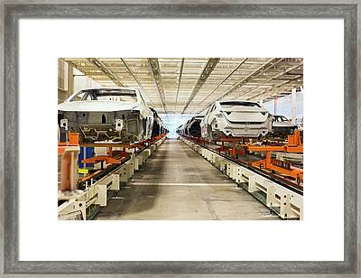 Car Assembly Production Line Framed Print by Jim West