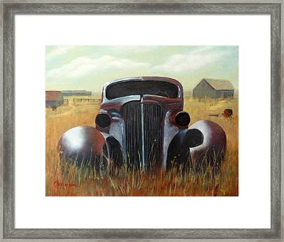 37 Chev Framed Print by Careen Moore