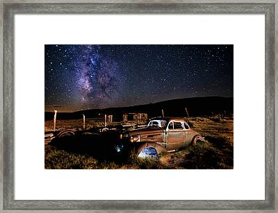 '37 Chevy And Milky Way Framed Print by Cat Connor