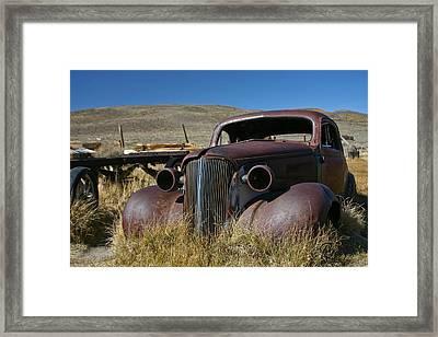 '37 Chevy In Bodie Framed Print