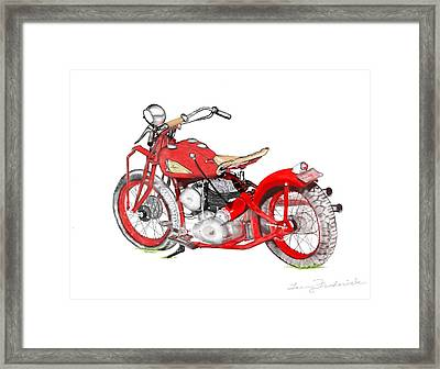 37 Chief Bobber Framed Print