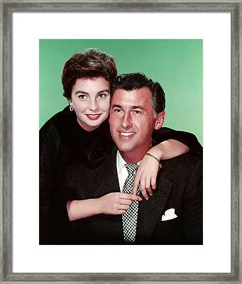 Jean Simmons Framed Print by Silver Screen