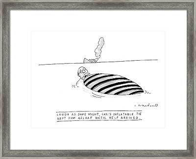 'laugh As Some Framed Print by Michael Crawford