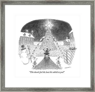 This Doesn't Feel The Least Bit Cultish To You? Framed Print by Pat Byrnes