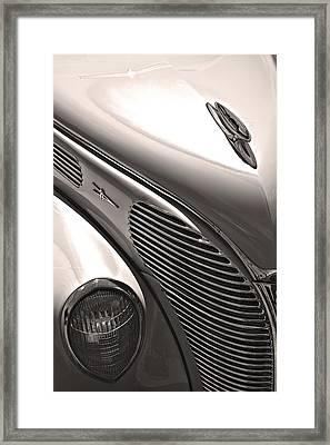 38 Ford Deluxe Sepia Framed Print