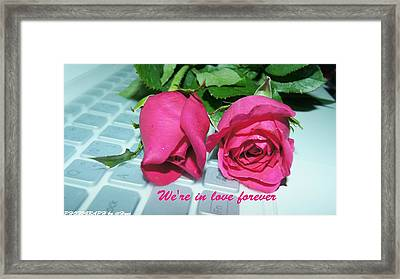 Roses For You Framed Print by Gornganogphatchara Kalapun