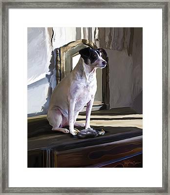 38. Ugly Dog Framed Print by Sigrid Van Dort