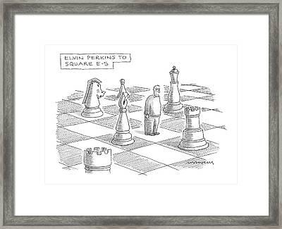 Elvin Perkins To Square E-5 Framed Print