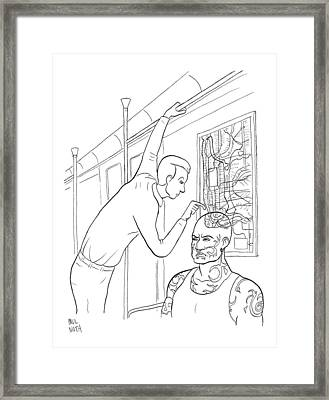 New Yorker April 21st, 2008 Framed Print by Paul Noth