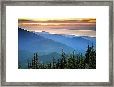 Usa, Washington, Olympic National Park Framed Print