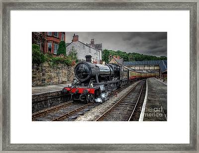 3802 At Llangollen Station Framed Print by Adrian Evans