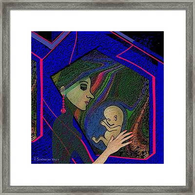 387 -  Thinking Of Her Unborn Child ...    Framed Print by Irmgard Schoendorf Welch