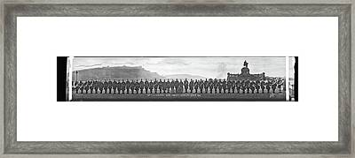 38th U.s Infantry Band, Coblenz Germany Framed Print by Fred Schutz Collection
