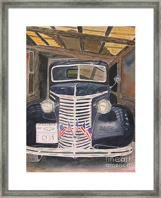 39 Chevy Framed Print by Peggy Dickerson