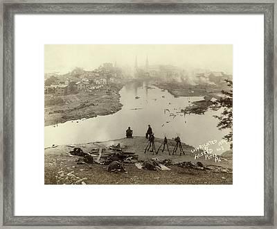 Johnstown Flood, 1889 Framed Print