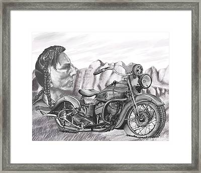 39 Scout Framed Print by Terry Frederick