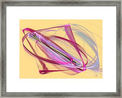 Symmetrical Lines And Lights Figures  Framed Print by Odon Czintos