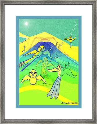 391 - Young Birds Flying   Framed Print