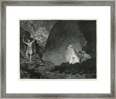 White Gypsum Dunes Framed Print by Yva Momatiuk John Eastcott