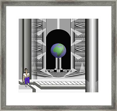 397 Domicile Scurrile With Globe 1 Framed Print