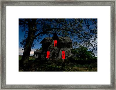 3am At The Farmhouse  Framed Print