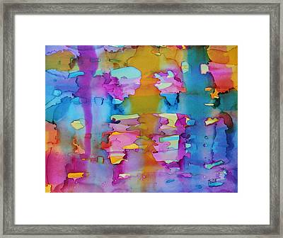 3colors Abstract Framed Print by Kim Thompson