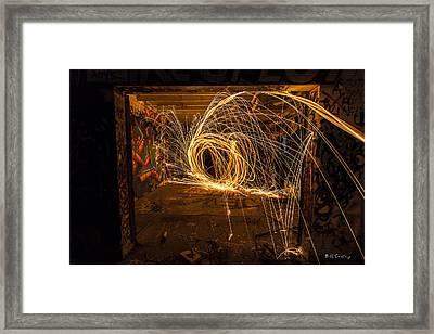 3d Fire Framed Print