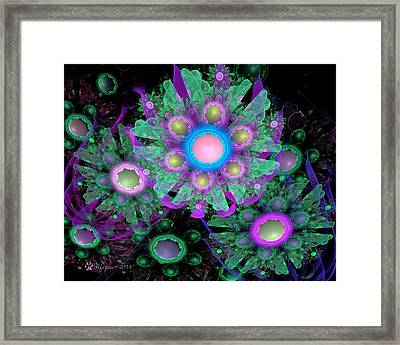 3d Flowers Framed Print by Peggi Wolfe