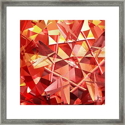 3d Folded Abstract Framed Print