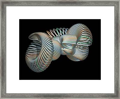 3d Fractal Klein Bottle Framed Print by Faye Symons