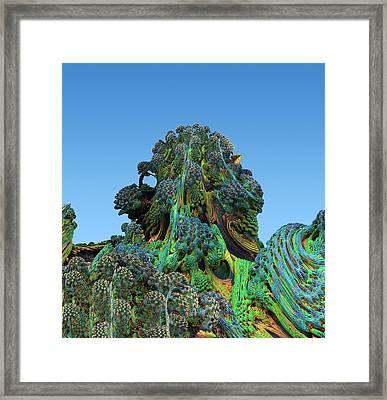 3d Fractal Landscape Framed Print
