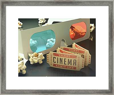 3d Glasses Framed Print
