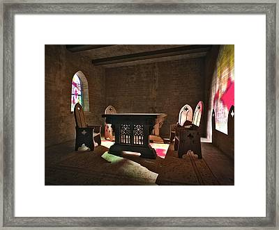3d Gothic Room Framed Print