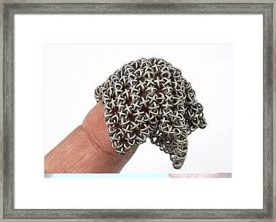 3d Printed Chain Mail Framed Print