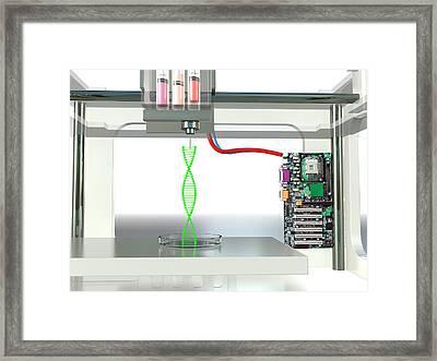 3d Printed Dna Framed Print