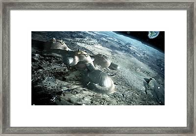 3d Printed Lunar Base Framed Print